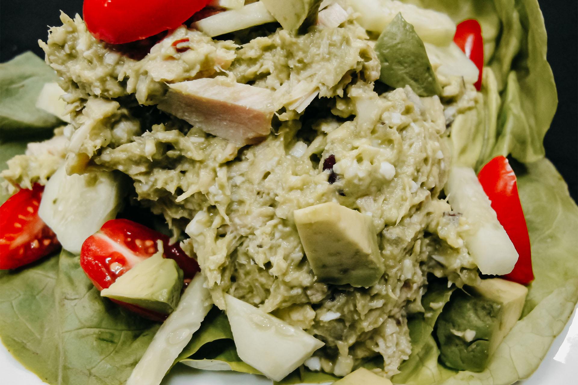 Bone Suckin' Avocado Tuna Salad
