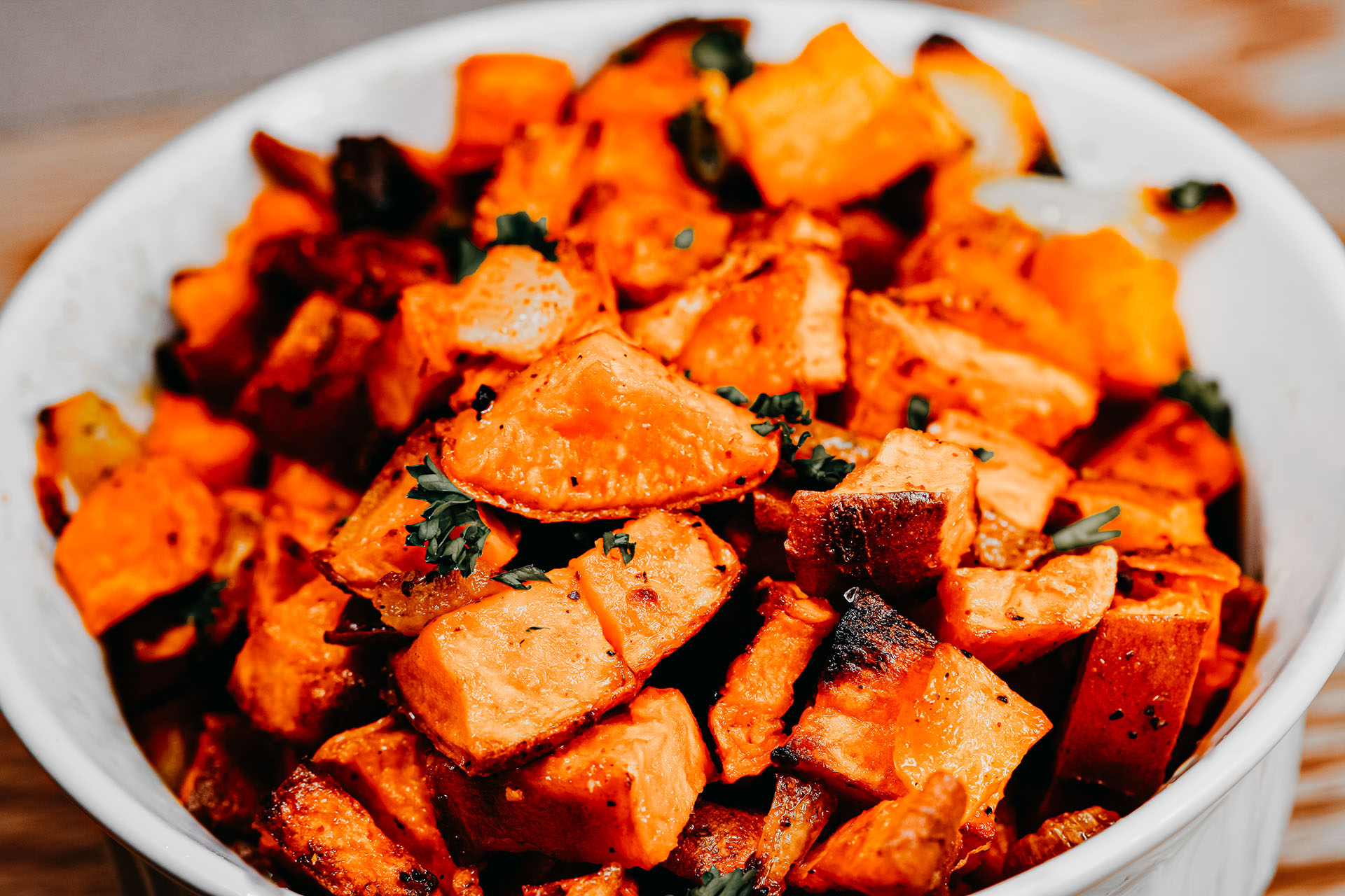 Bone Suckin' Baked Sweet Potatoes