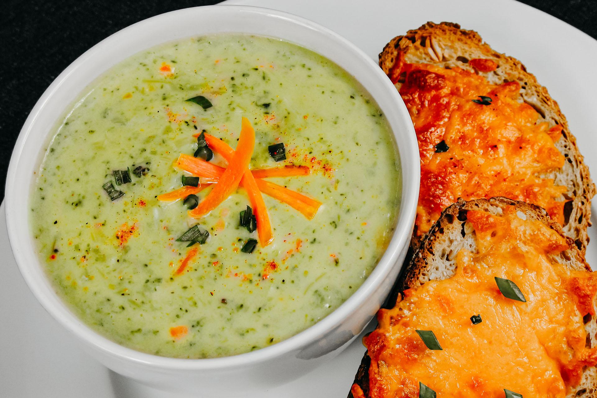 Bone Suckin' Broccoli Cheddar Soup
