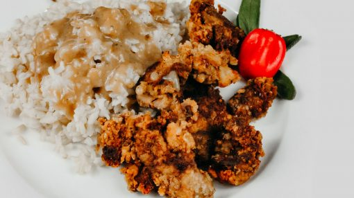 Bone Suckin' Chicken Livers with Rice & Gravy