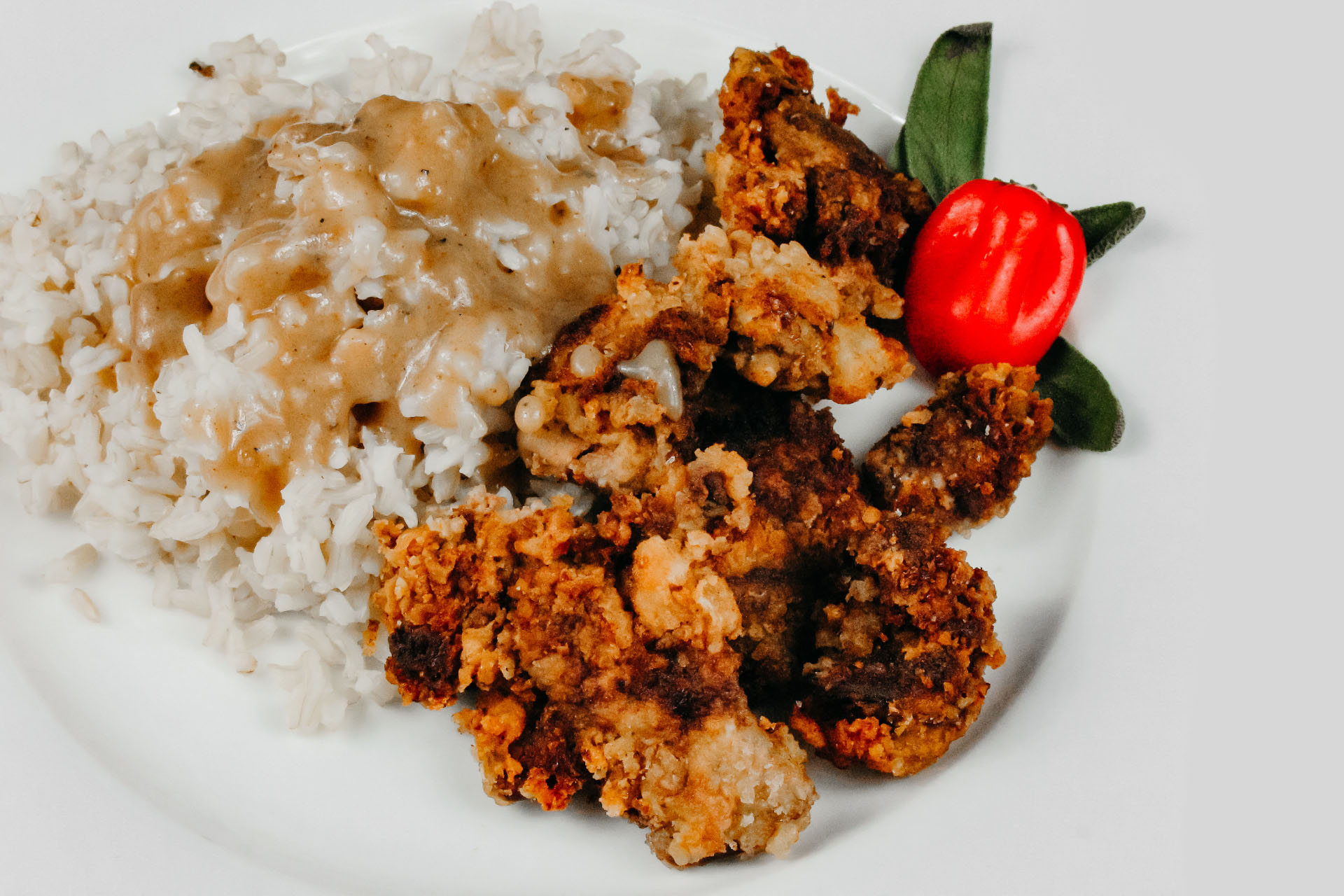 Bone Suckin' Chicken Livers with Rice & Gravy