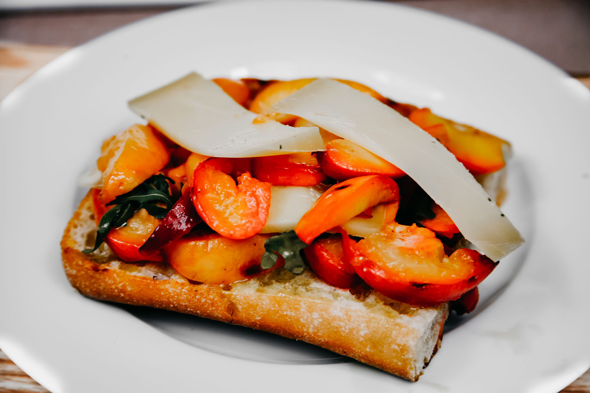 Bone Suckin' Peach Nectarine Chutney Sandwich