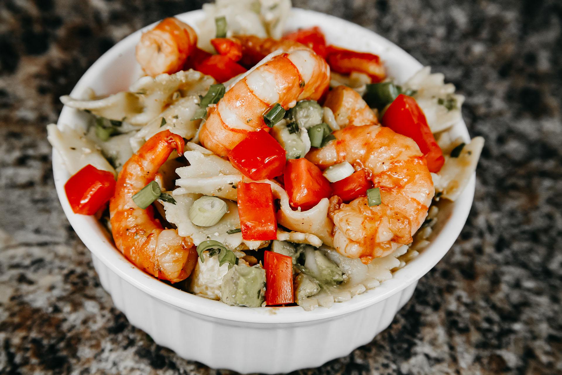 Bone Suckin' Shrimp and Pasta Salad