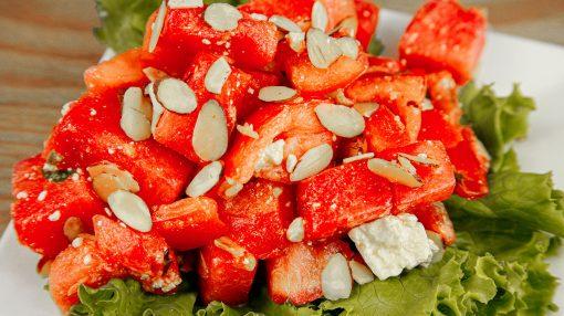 Bone Suckin' Tomato Watermelon Salad