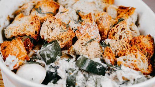 Bone Suckin' Zucchini Mushroom Bake