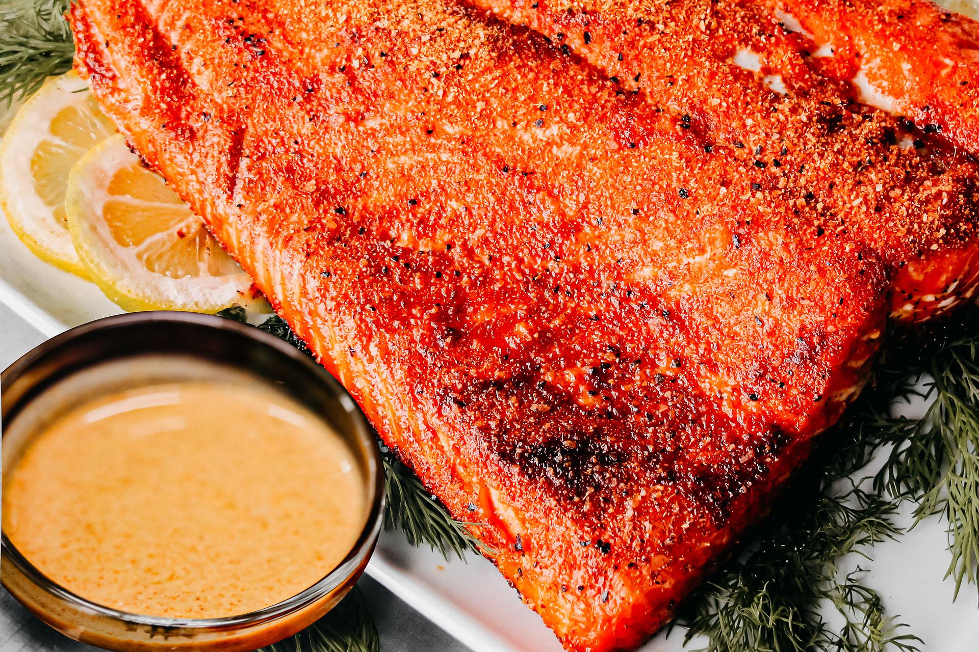Bone Suckin' Salmon Mustard Sauce