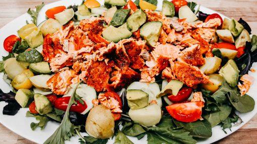 Bone Suckin' Salmon Salad