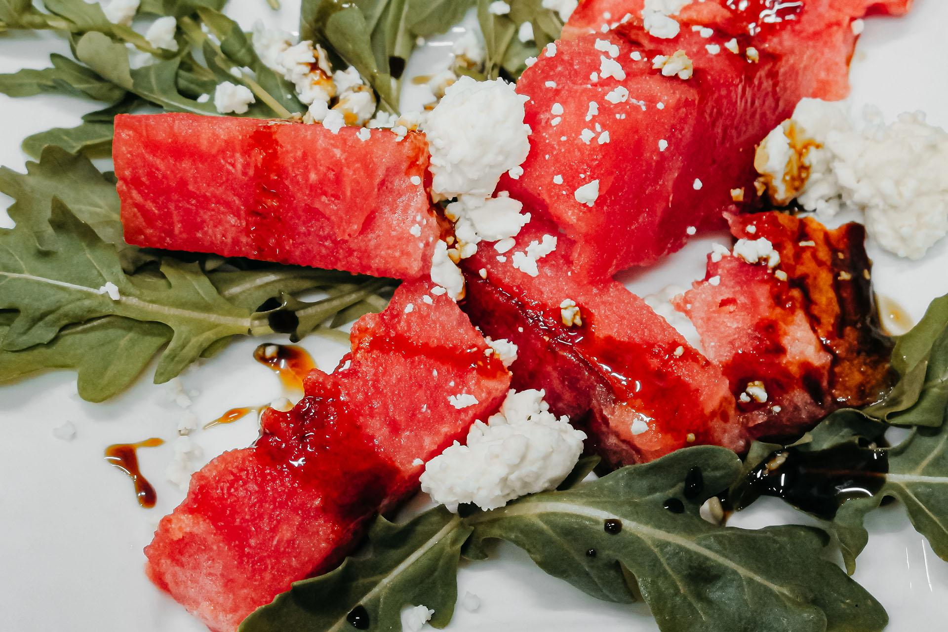 Bone Suckin' Watermelon Arugula Feta Salad
