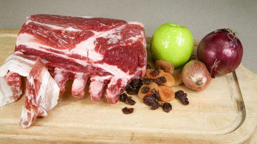 Roasted Pork Winer Fruit Prep