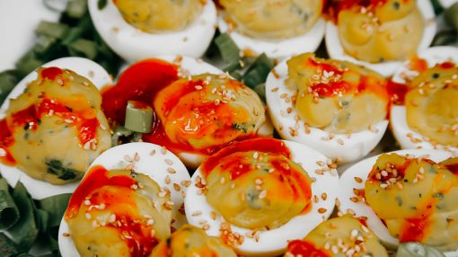 Bone Suckin' Spicy Deviled Eggs