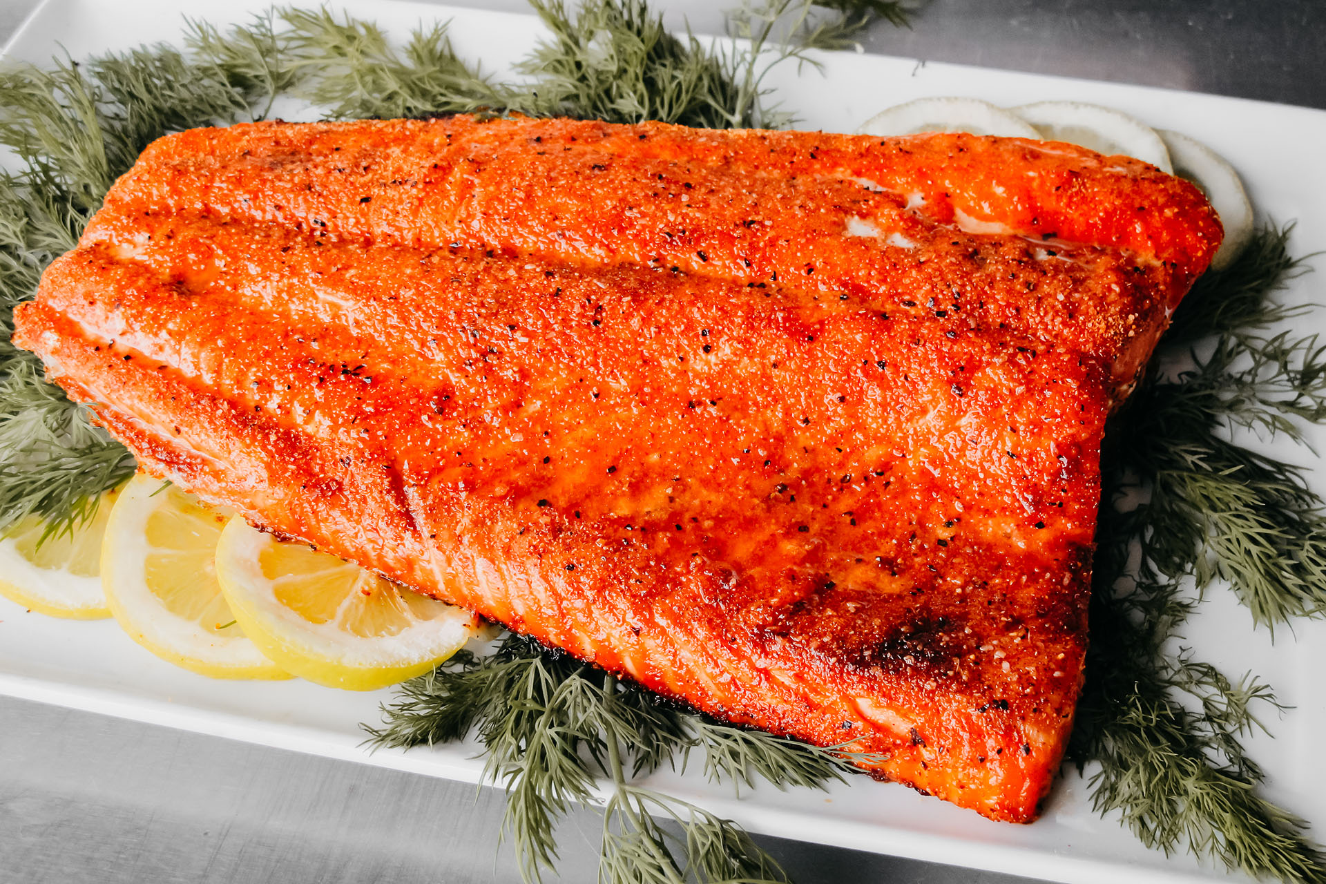 Bone Suckin' Seasoned Salmon